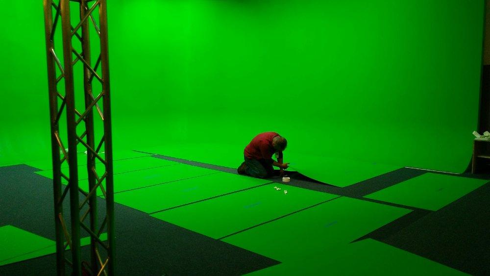 green screen cyclorama flooring