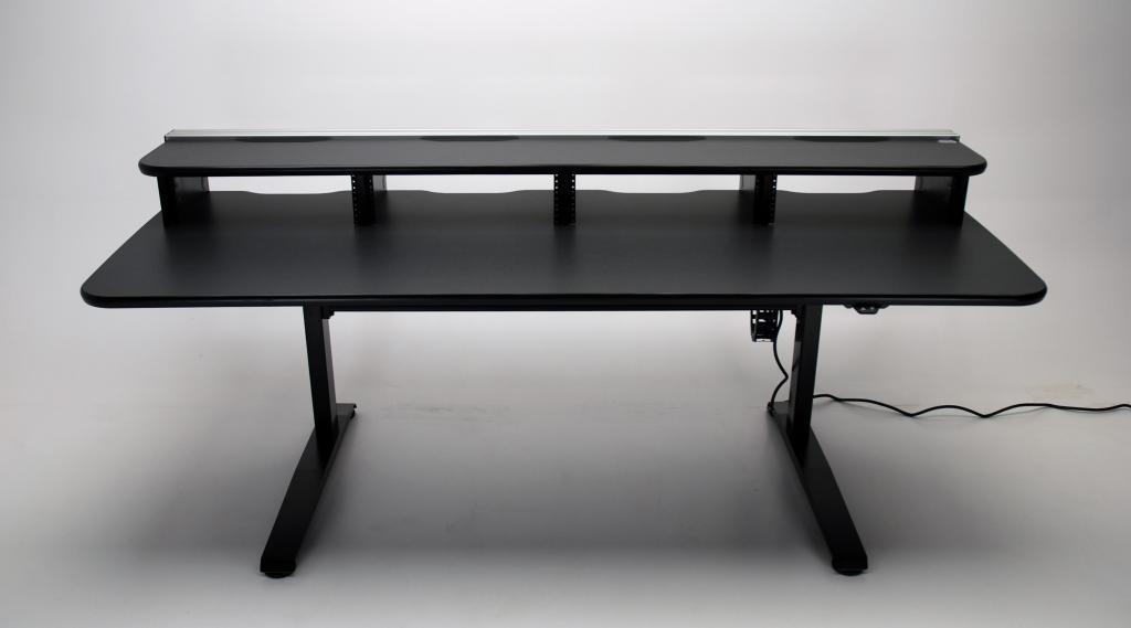 video editing desk, editing desk, electric desk, ergonomic desk, height adjustable console, height adjustable desk, UNISET, PROEDIT, PRO EDIT, PRO-EDIT, Editing furniture, behind the scenes desk, dual height desk, Sit/stand desk, sit stand desk, electric, ergonomic