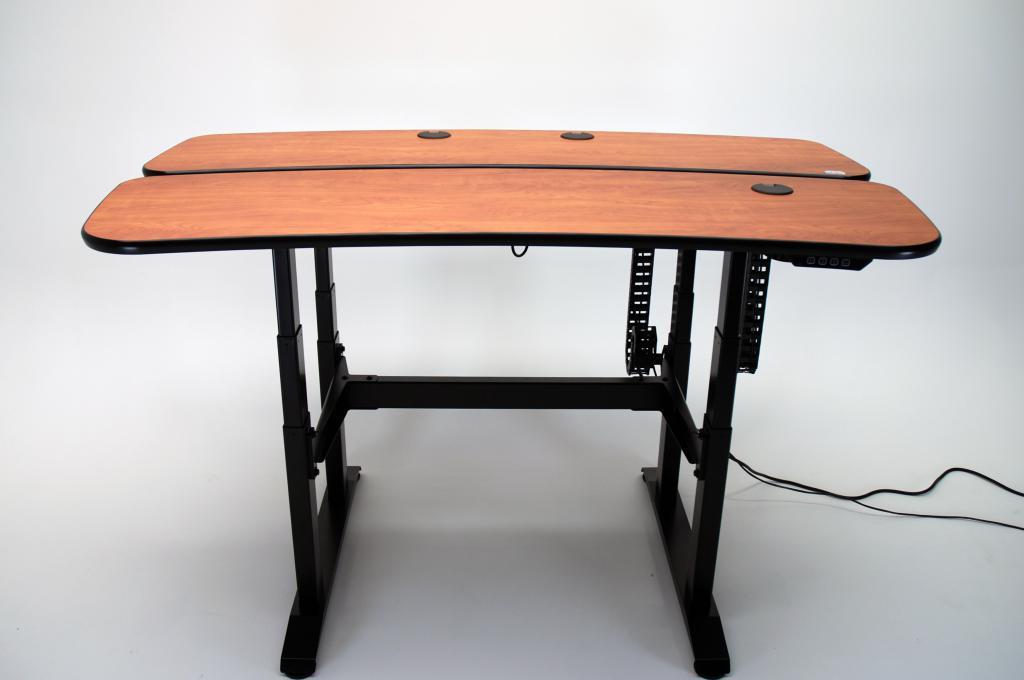 video editing desk, editing desk, electric desk, ergonomic desk, height adjustable console, height adjustable desk