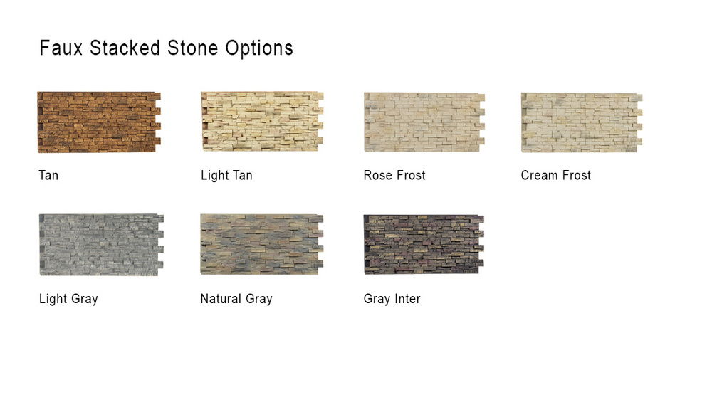 texture options, faux stone