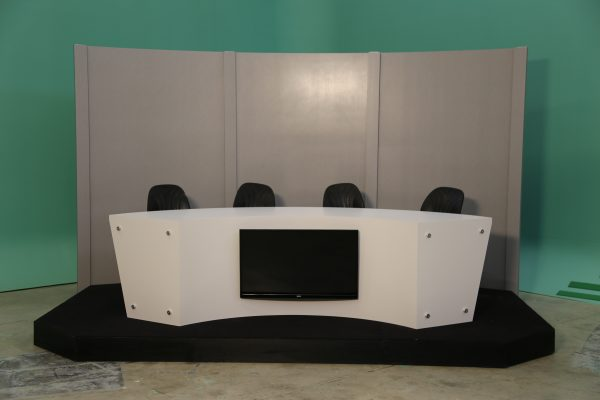 custom news anchor desk