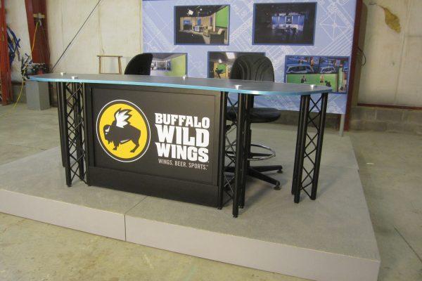buffalo wild wings, interview desk, news desk, sports desk, unipro desk system, uniset