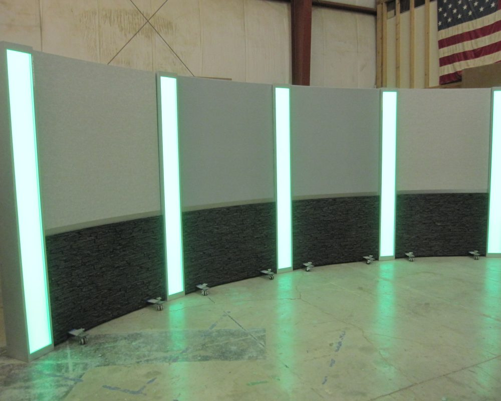 Rolling Panel System, Light box columns, LED columns, set background, studio background, reversible background ,modular background, UNISET