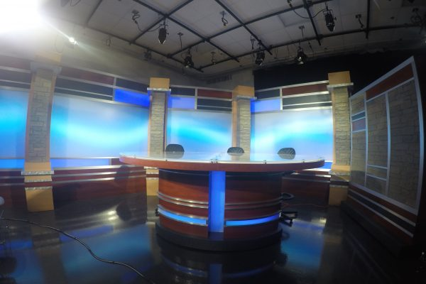 San Antonio College, Custom Interview Desk, Custom News Desk, Custom set build, UNISET