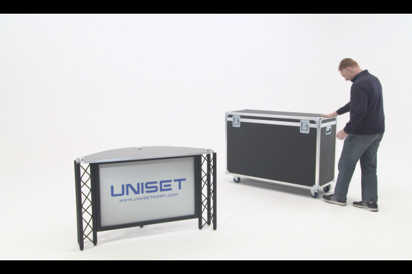 UNISET - News interview broadcast desk with mobile carry case