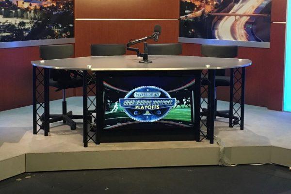 UNISET, News desk, UNIPRO Desk System, Interview set, Interview desk, talk show desk