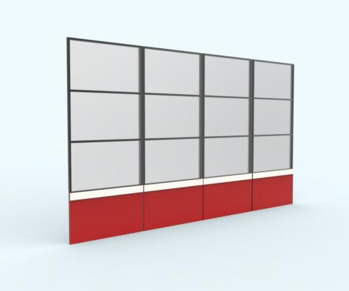 Rendering- Transition Panels, Grey uppers and red lowers with white pin stripe