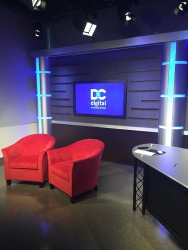 Gannett D & C Rochester News Studio - UNISET Custom fabrication set