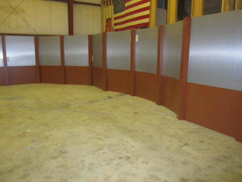 Wall Column System- Aluminum Uppers and cognac birdseye lowers