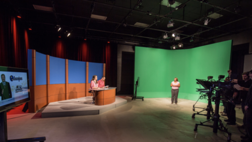 Lee University Communications Studio 150 sq foot riser