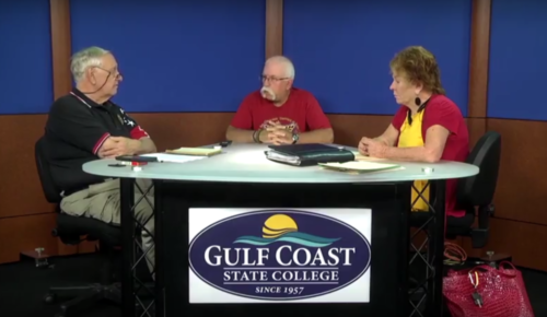 Frosted Acrylic C top on Gulf Coast State College TV Set