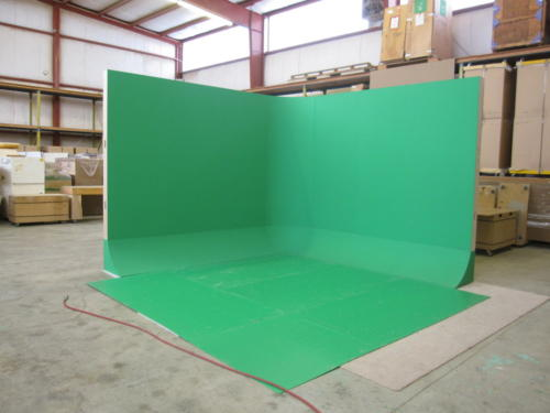 L shaped free standing Green Screen Cyclorama Wall