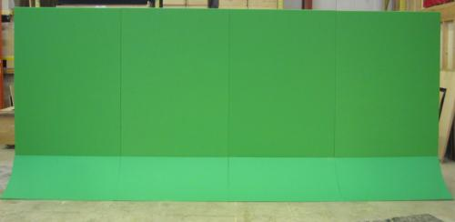 Flat wall back side- green screen rolling panel