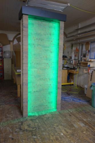 Custom LED faux stone center piece