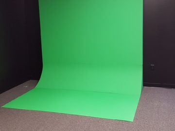 flat wall shaped free standing Green Screen Cyclorama Wall