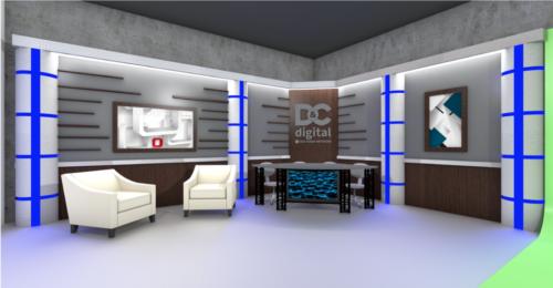 Gannett D & C Rochester News Studio - UNISET Custom fabrication set rendering