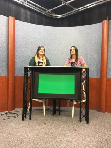 """A Top with chroma key green insert at bistro (42"""") height"""